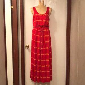 Women Kensie size small orange belted dress